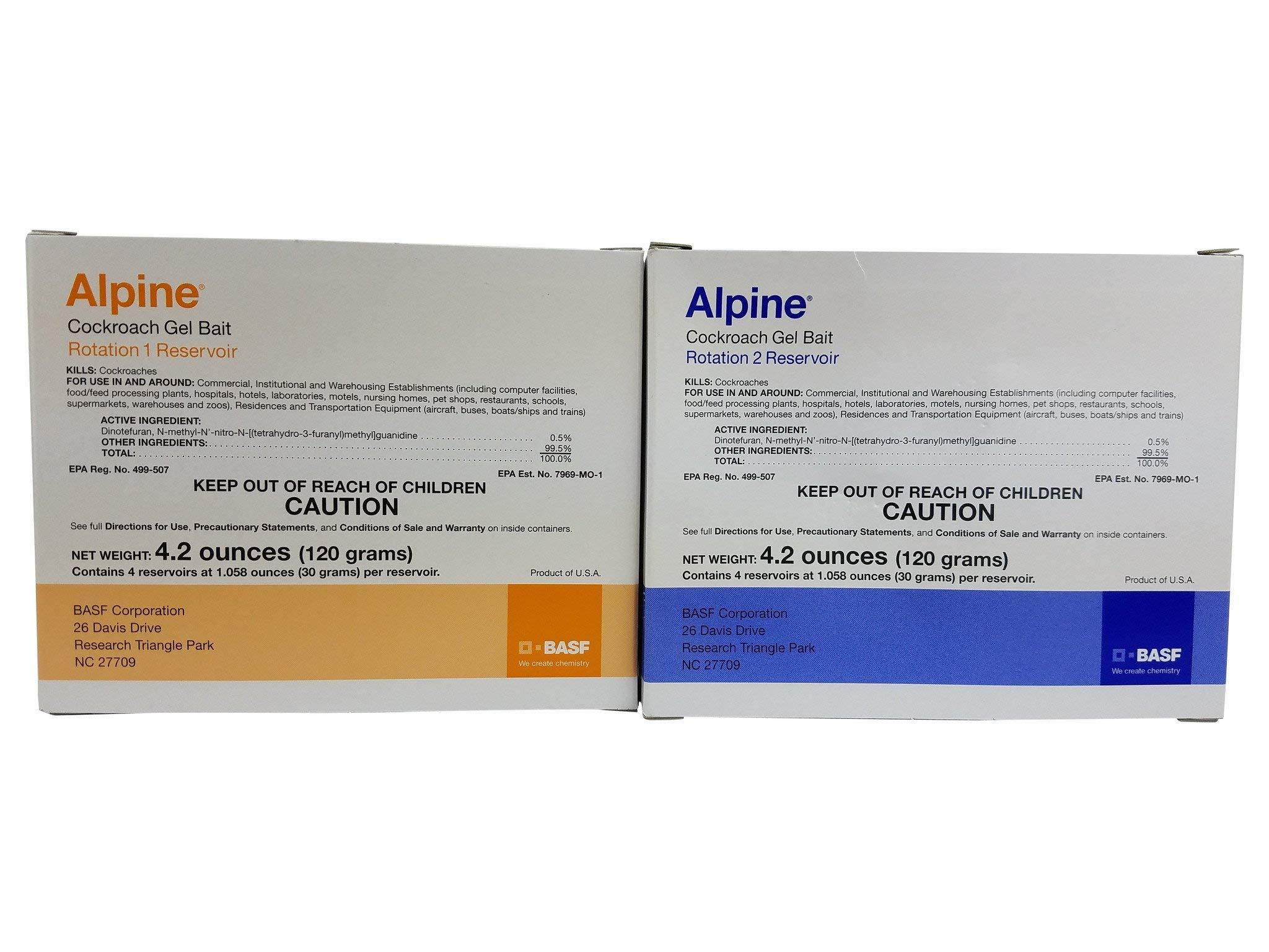BASF - Alpine Rotation 2 - Cockroach Gel Bait - 1 Box (4x30 Gram) Syringes by BASF