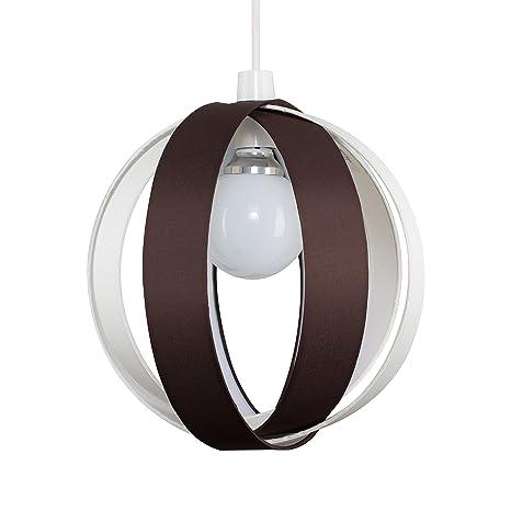 MiniSun - Moderna y divertida pantalla para lámpara de techo Cocoon – marrón chocolate, redonda en forma de globo