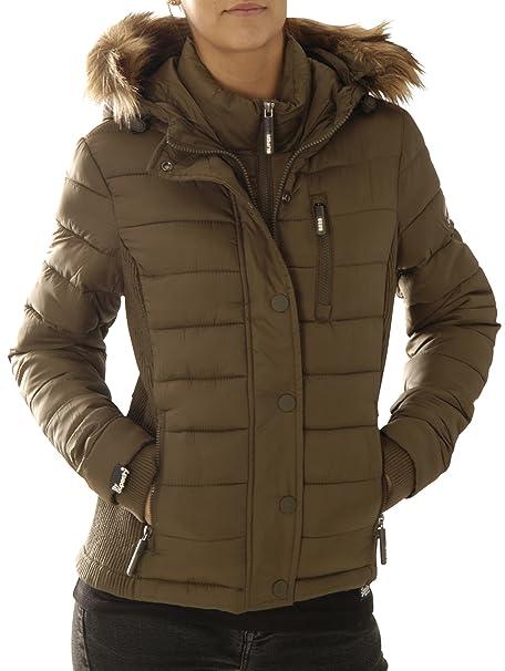 Abbigliamento Piumino Xs Superdry Donna Cappotto Verde Amazon it xT0ZpHqnw 22cfc3b95d1