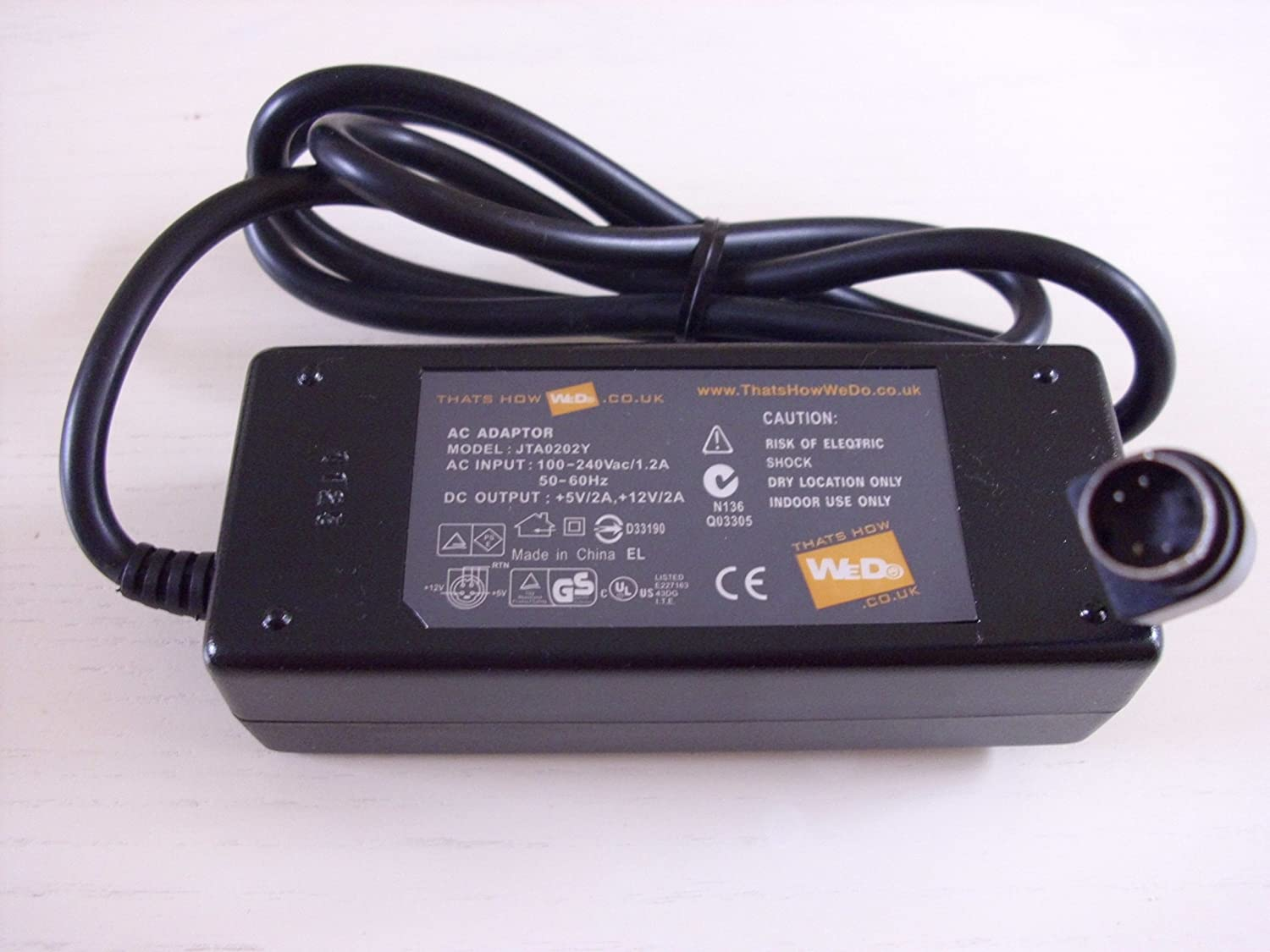 AC Adapter Charger for Jentec Power JTA0202Y Output: 12V 2A Mini 4-PINS 5V 2A