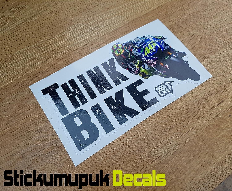 Think Bike Car Bike van vinyl decal sticker window bumper transfer