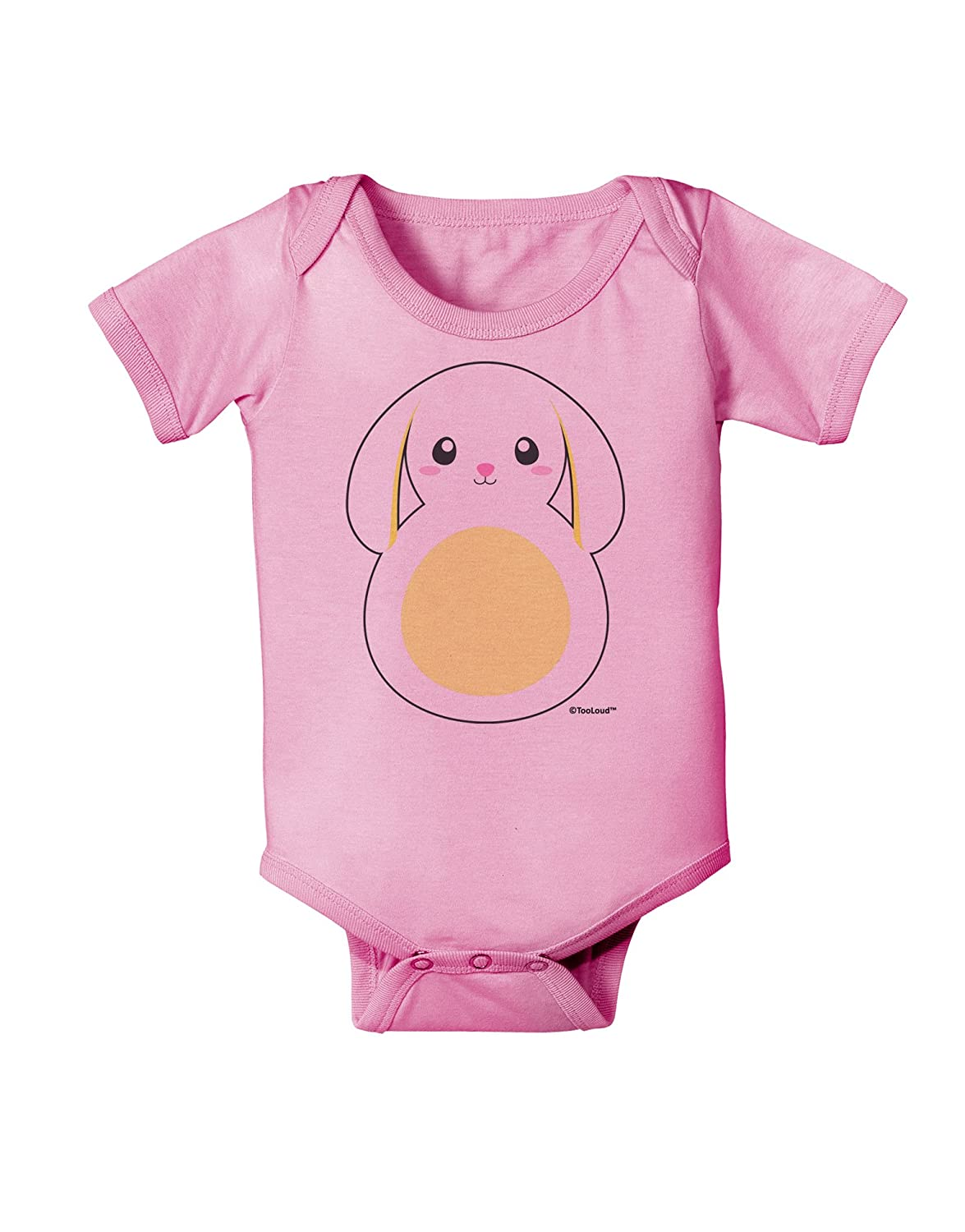 TooLoud Cute Bunny with Floppy Ears Yellow Baby Romper Bodysuit