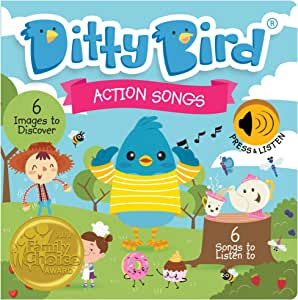 DITTY BIRD Baby Sound Book: Our Action Songs Musical Book for Babies is The Perfect Toys for 1 Year Old boy and 1 Year Old Girl Gifts. Interactive Educational Music Toy for Toddlers 1-3