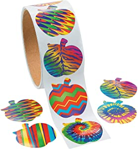 Funky Apple Roll Stickers - 1 Piece - Educational and Learning Activities for Kids