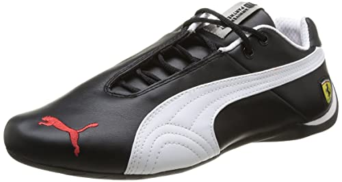 9eee2a5c4b96d0 Puma Men s Black-White Leather Running Shoes (30547002 Black White) - 8UK
