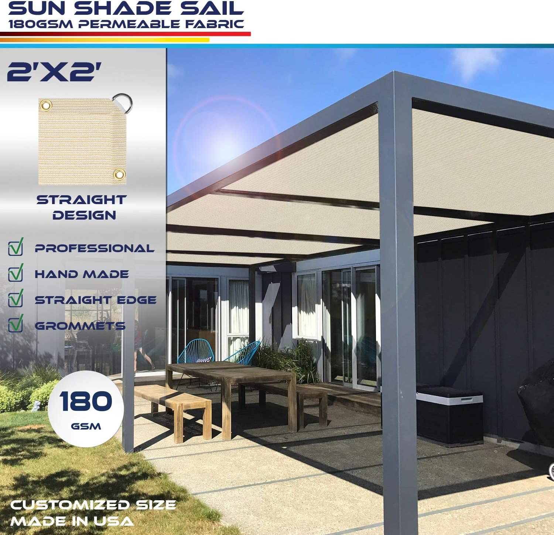 Windscreen4less toldo de borde recto, rectangular al aire libre ...