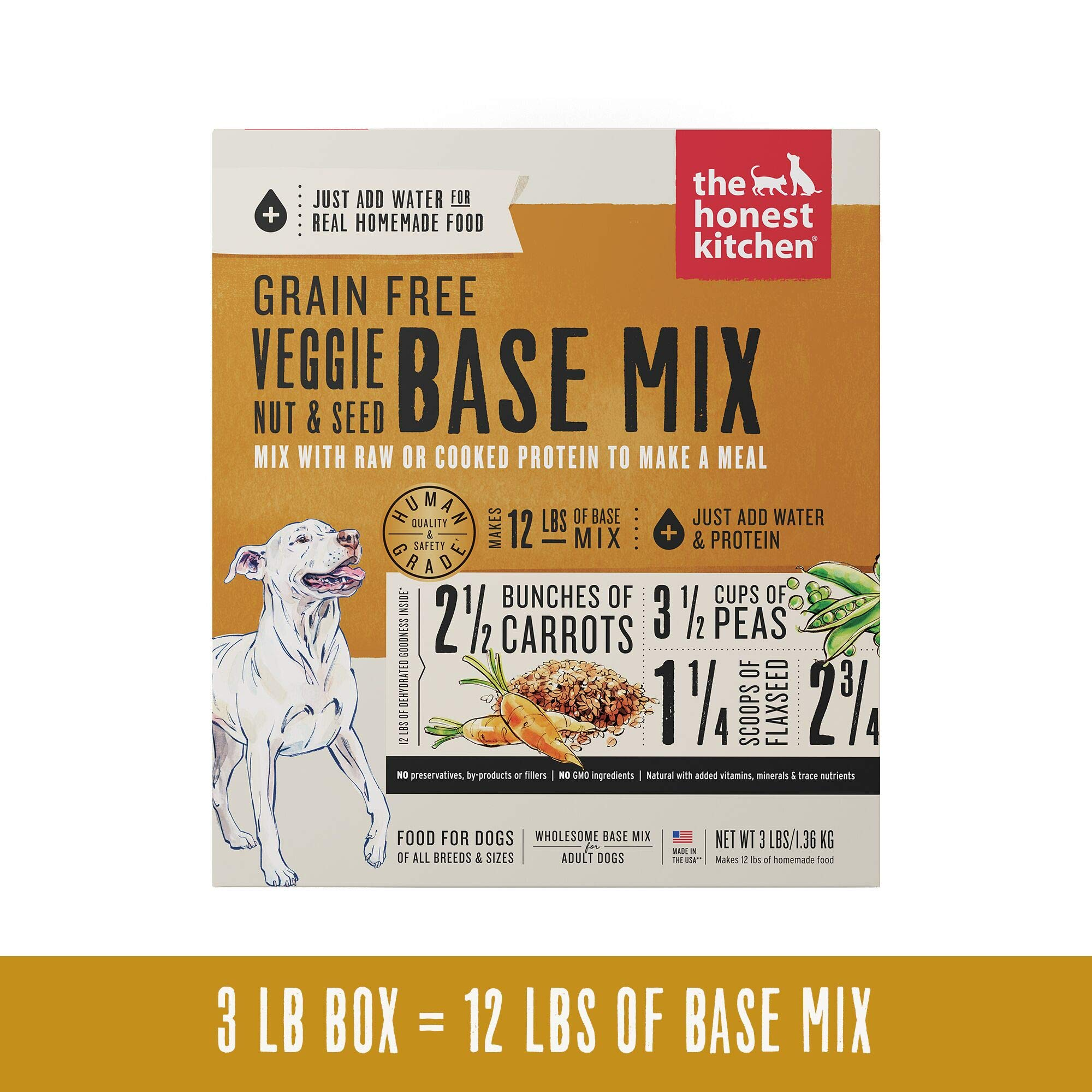The Honest Kitchen Grain Free Veggie, Nut & Seed Base Mix Recipe for Dogs, 3lb box by Honest Kitchen