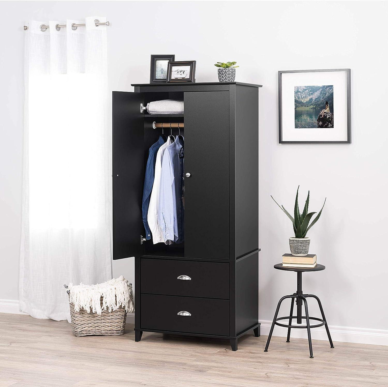prepac yaletown armoire 31 5 w x 72 h x 21 d black