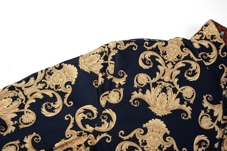 FANZHUAN Camisa Blanca Entallada Camisa Flores Hombre Camisa Hombre Vintage Cuello Mao: Amazon.es: Ropa y accesorios