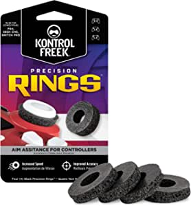 KontrolFreek Precision Rings | Aim Assist Motion Control for PlayStation 4 (PS4), PlayStation 5 PS5), Xbox One, Xbox Series X|S, Switch Pro and Scuf Controller | Black