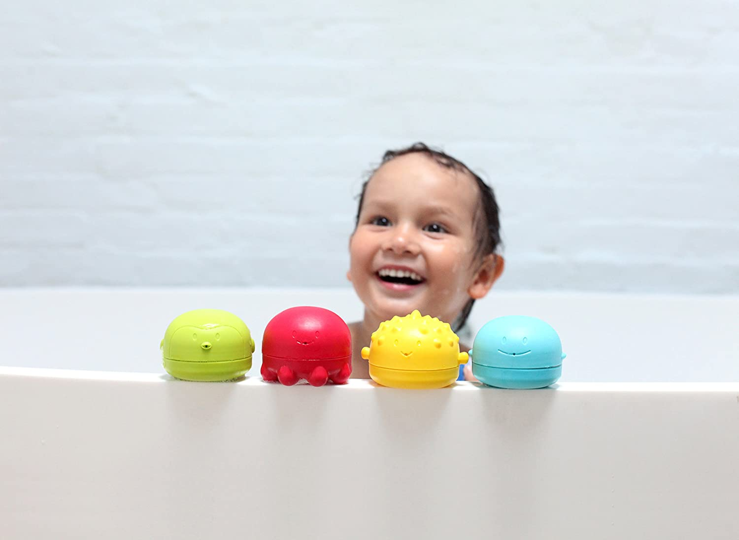 Amazon.com : Ubbi Squeeze and Squirt Silicone Mold Free Bath Toys ...