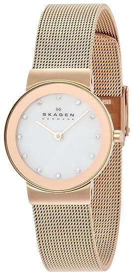 SKAGEN Pulsera Reloj básico Ladys Acero Oro Rosa para Las Mujeres (importación de Japón) 358SRRD: Amazon.es: Relojes