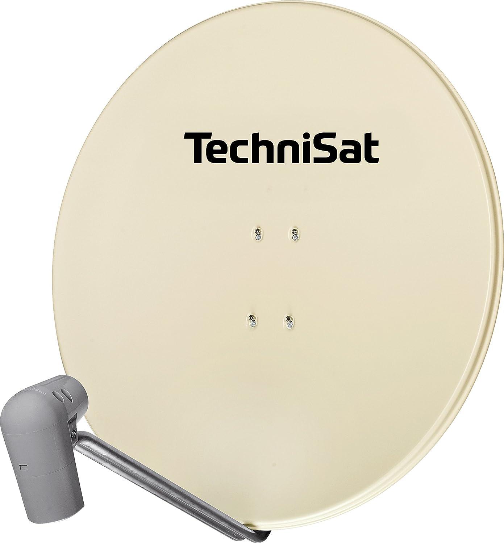 TechniSat Satman 850 PLUS Satellitensch/üssel 85 cm Sat Anlage mit Masthalterung und UNYSAT-Quattro-Switch-LNB f/ür bis zu 4 Teilnehmer rot