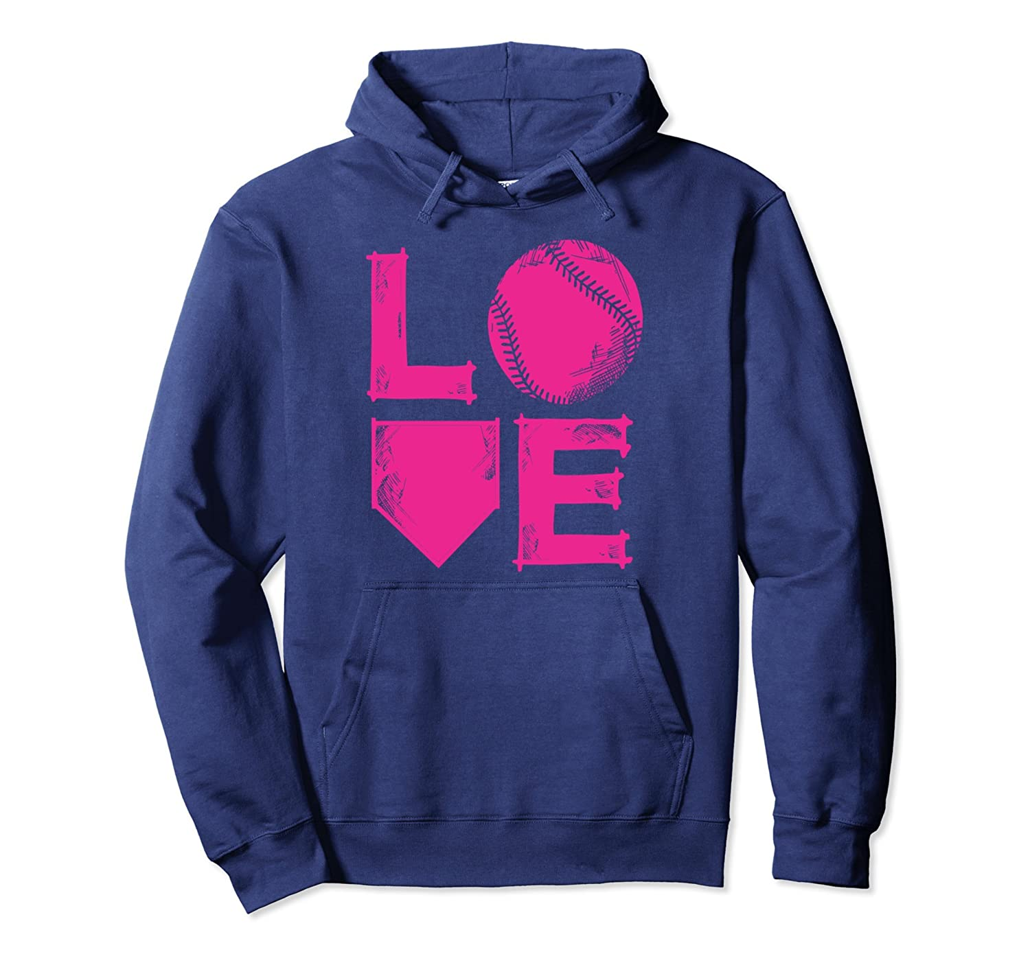 American Softball Apparel Gift I Love Softball Hoodie Gift Idea For Teen  Girls and Women-Colonhue