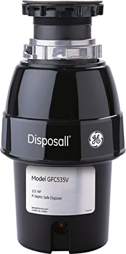 GE GFC535V .5 Horsepower Deluxe Continuous Feed Disposal Food Waste Disposer with Power Cord attached