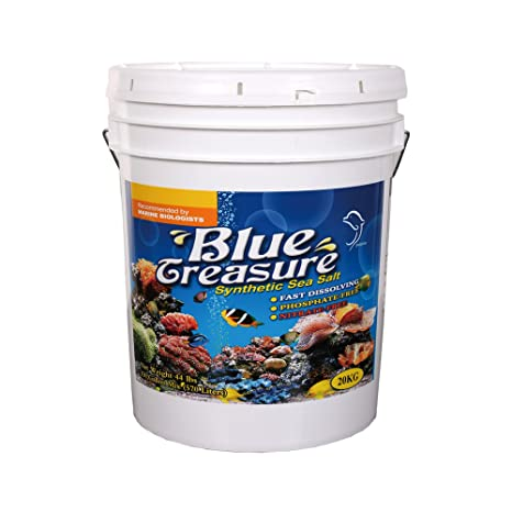 Blue Treasure - Sal marina sintética del arrecife 20 kg sin fosfatos