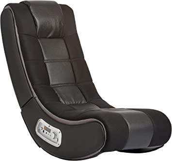 Video Rocker Gaming Chair Floor Games Playing Xbox PS4 Kids Reading Black Red