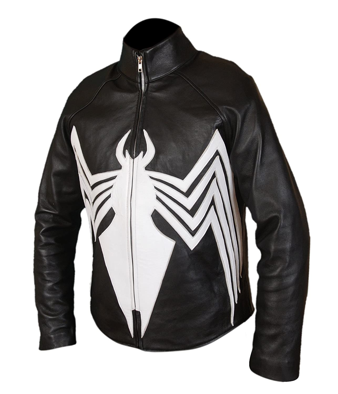 F&H Mens Genuine Leather Amazing Spider-Man Venom Spiderman Jacket at Amazon Mens Clothing store: