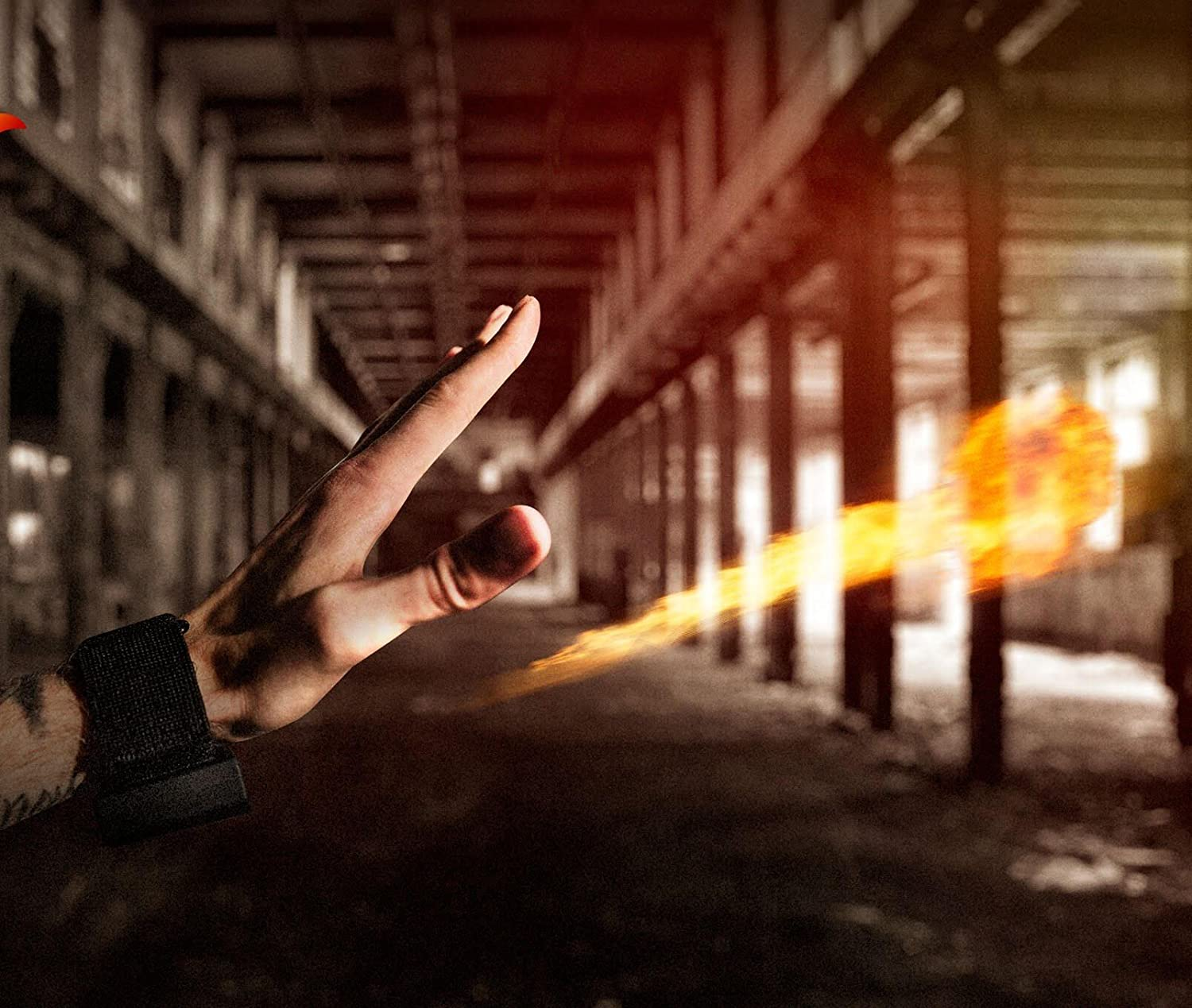 More Fire. Less Bulk Ellusionist Pyro Mini Fireshooter Magic Wrist Device Shoots Fireballs from Your Empty Hands