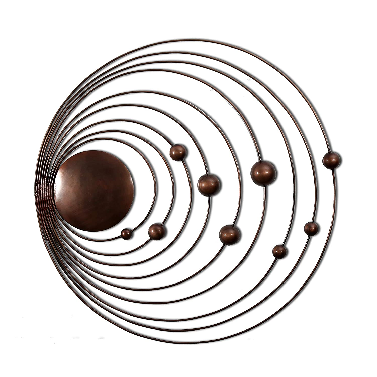 Sistema solare del sole e 9  pianeti Handmade metal Wall Art Sculpture decorazione da parete e da appendere (73, 7  x 73, 7  x 2, 5  cm) 7 x 73 7 x 2 5 cm) Inhouse Handicrafts Pvt Ltd