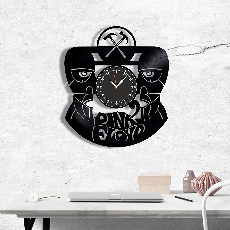 Pink Floyd Vinyl Record Clock – Wall Clock Pink Floyd Rock Band – Best Gift for Rock Music Lover – Original Wall Home Decor Vinyl Clock