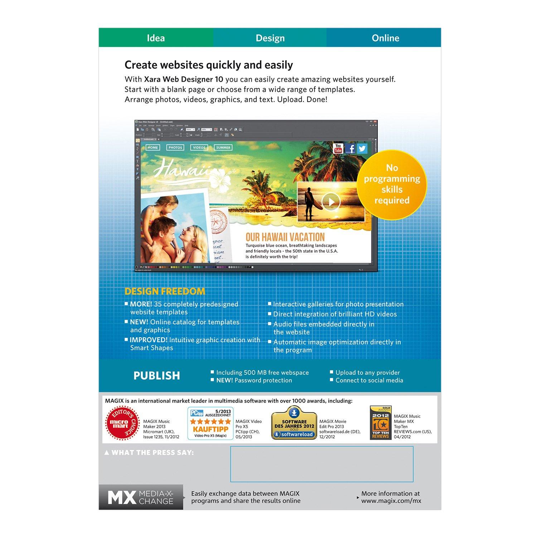 amazon com magix xara web designer 10 software