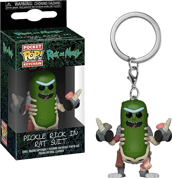 Amazon.com: Funko Pop! Llavero: Rick & Morty – Rick in Rat ...