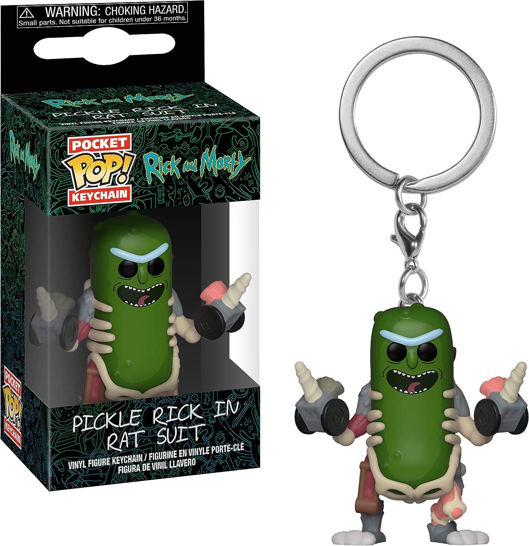 Funko Pop! Rick & Morty - Keychain Pickle Rick In Rat Suit