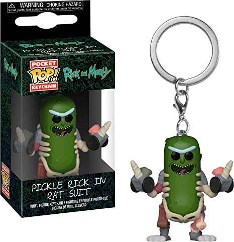 Amazon.com: Funko 35930 Pop! Keychain: Rick & MortyRick in ...