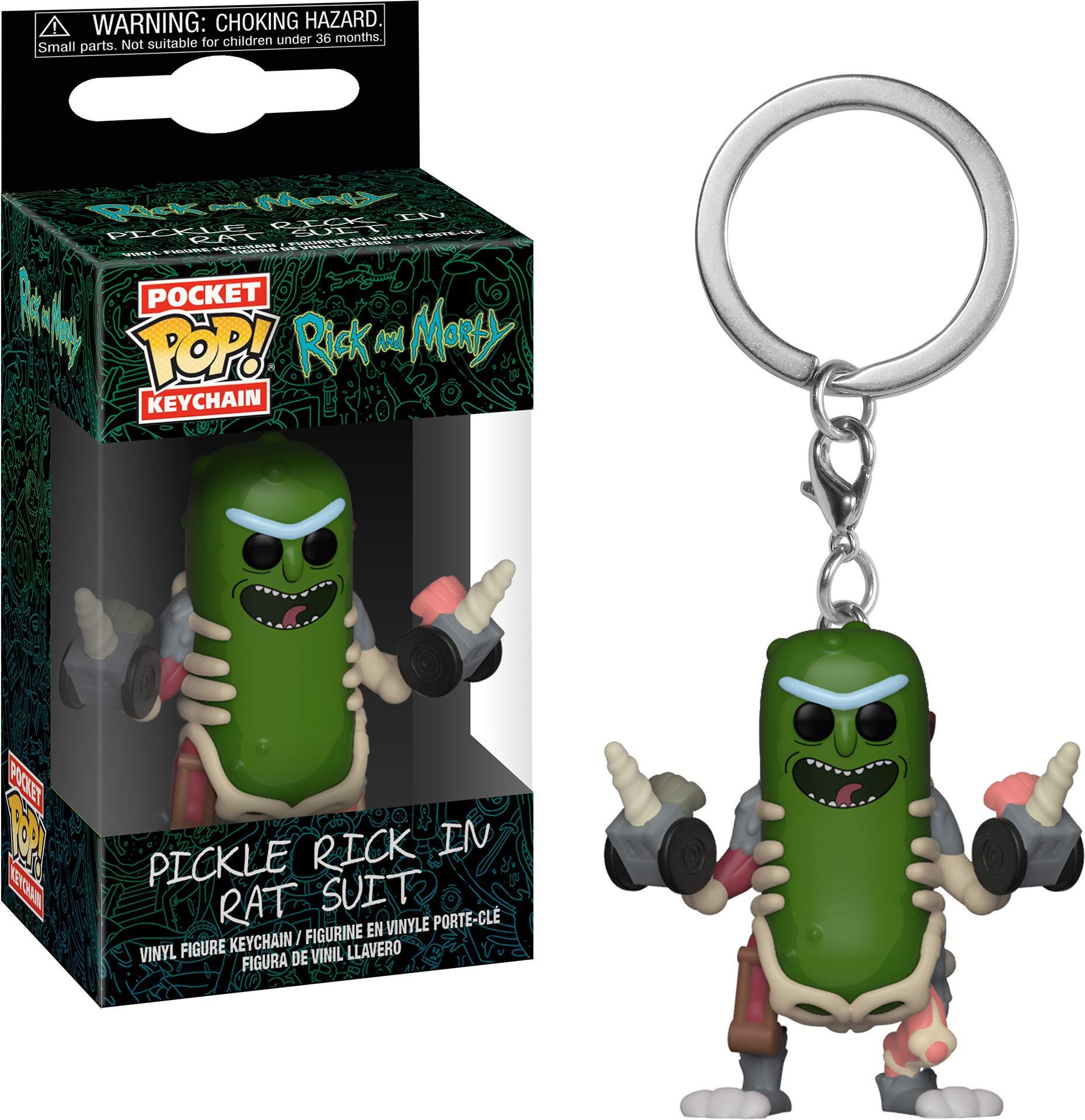 Funko 35930 Pop! Keychain: Rick & MortyRick in Rat Suit, Multicolor