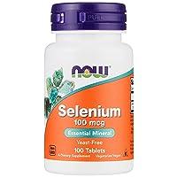 NOW Supplements, Selenium (L-Selenomethionine) 100 mcg, Essential Mineral*, 100...