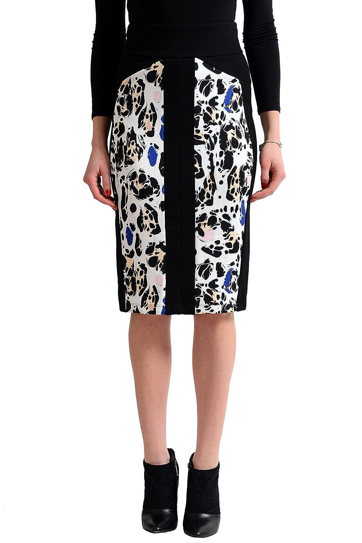 Just Cavalli Women's Multi-Color Stretch Pencil Skirt US S IT 40
