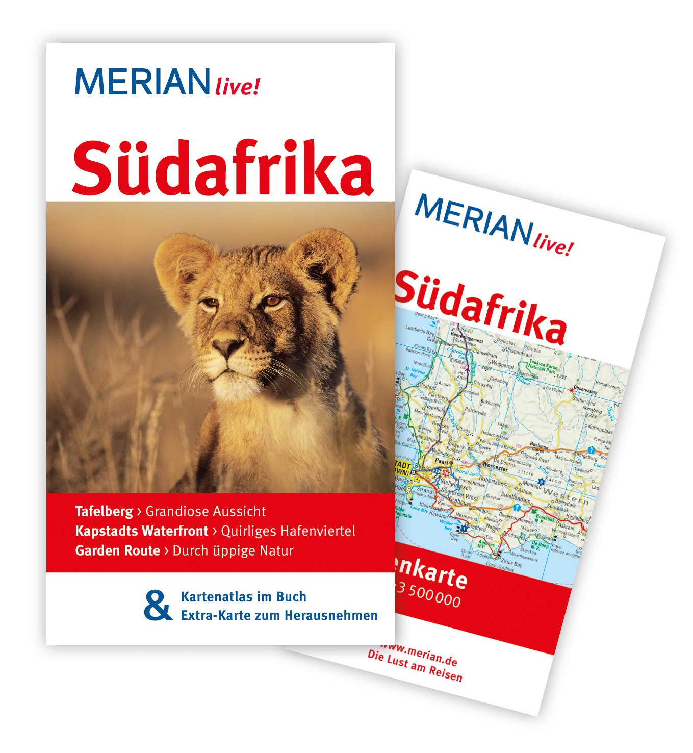 MERIAN live! Reiseführer Südafrika: Mit Kartenatlas im Buch und Extra-Karte zum Herausnehmen