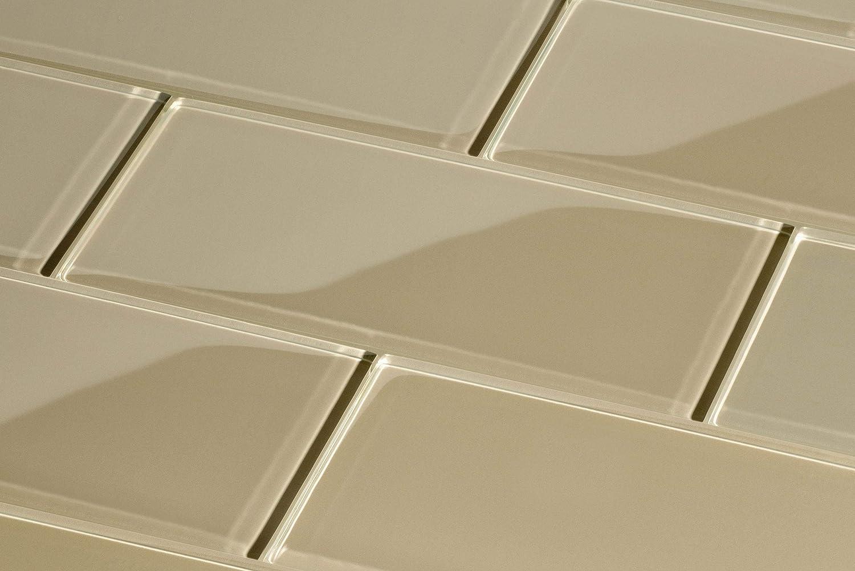 grau Glas Subway Tile von giorbello