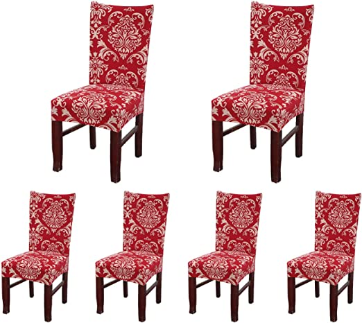 Red 4pcs//set Spandex Stretch Wedding Banquet Chair Cover Party Decor Seat Covers