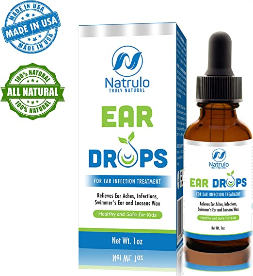 Natrulo Natural Ear Drops For Ear Infection Treatment Homeopathic Herbal Eardrops For Adults Children Pets Relieves Ear Aches Infections