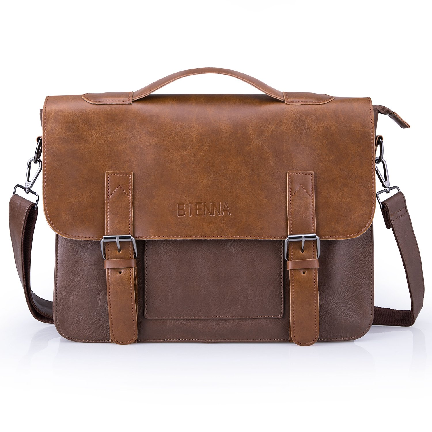Color : Brown, Size : L Lydianzishangwu Mens Single Bag Leather Crossbody Bag Top Layer Leather Multifunction Portable Briefcase