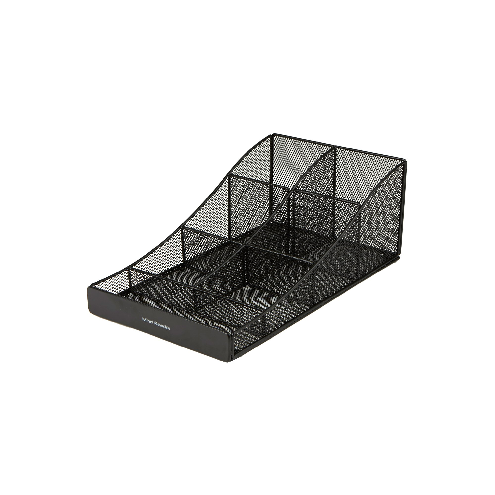 Mind Reader COMP7MESH-BLK Condiment Organizer Storage, Black Metal Mesh by Mind Reader (Image #2)