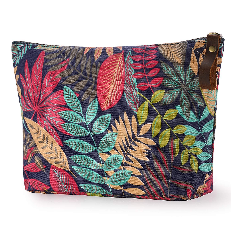 8ac29261e278 SMRITI Canvas Large Makeup Bag Pouch Purse Handbag Organizer with Zipper  product image