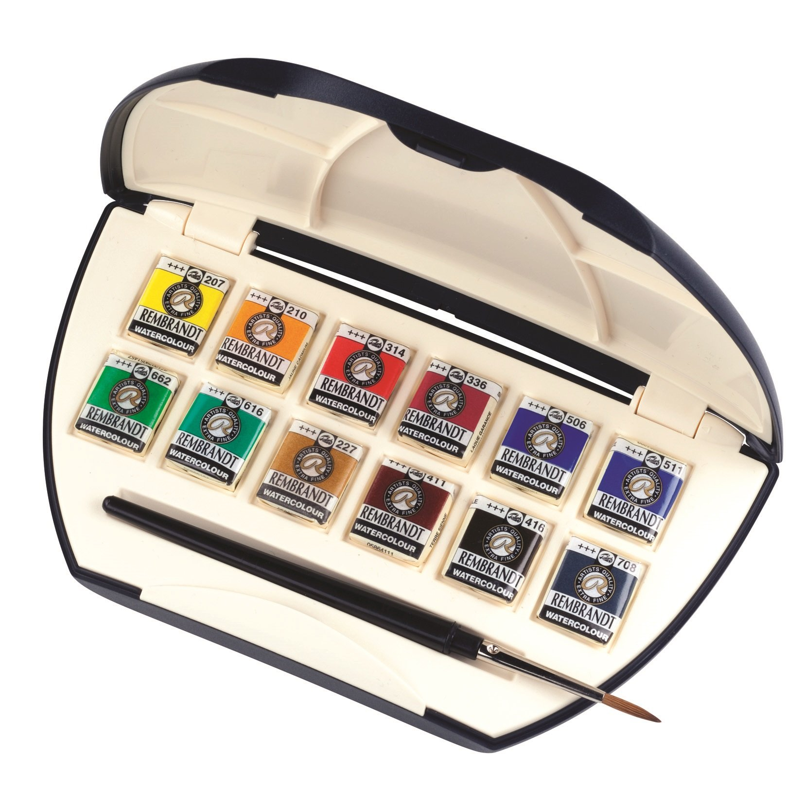 Rembrandt Professional Artist Water Colour 12 Pan Luxury Pocket Box with Brush