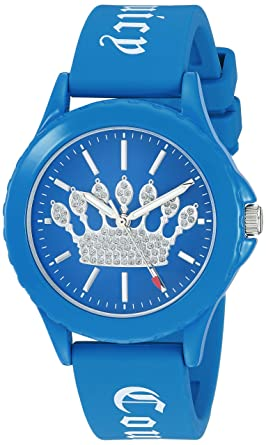 0722a0dd3c4d31 Juicy Couture Black Label Women s Glitter Accented Blue Silicone Strap Watch