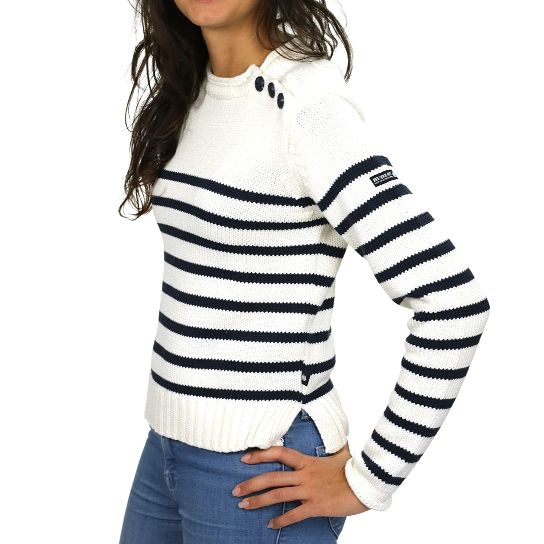 6fa5538b761 HUBLOT Gaëtane écru Marine - Pull Marin Femme M Multicolor Agrandir l image