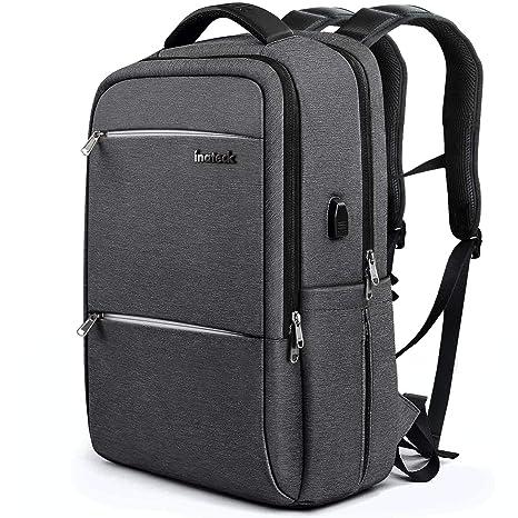 Inateck 17 Pulgadas Mochila para portátiles Laptop con Enchufe Carga USB y protección Anti-Lluvia