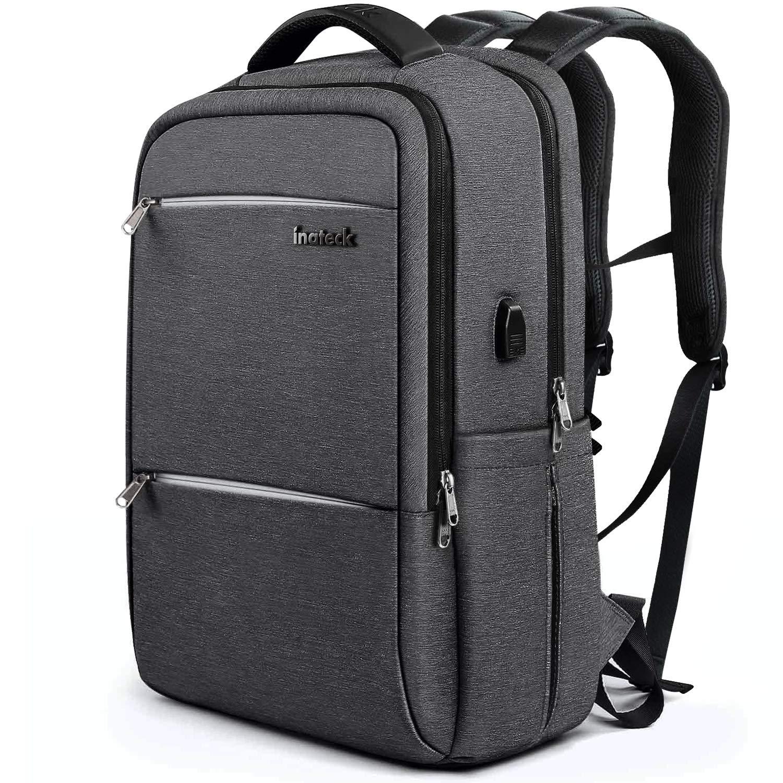 71a64463e47ef3 Inateck Zaino per laptop da 17 pollici anti borseggio anti graffio con  presa ricarica USB e