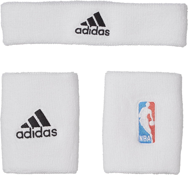 adidas Schweißarmband Plus Stirnband NBA Muñequera-Unisex, Blanco ...
