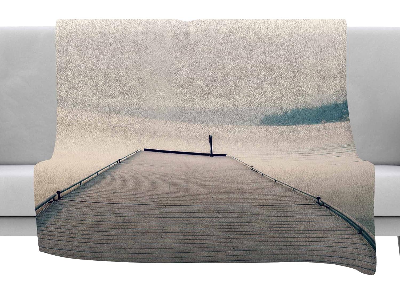40 x 30 Fleece Blanket Kess InHouse Robin Dickinson Tranquility Blue Green Throw