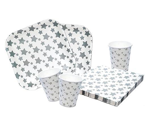 Platos,vasos y servilletas desechables Cumpleaños Niña. 40 ...