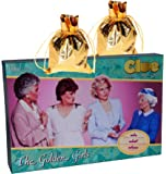 CLUE Golden Girls Board Game _ Bonus 2 Gold Metallic Cloth Drawstring Pouches _Bundled Items