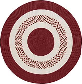 product image for Flowers Bay Round Area Rug, 4-Feet, Red