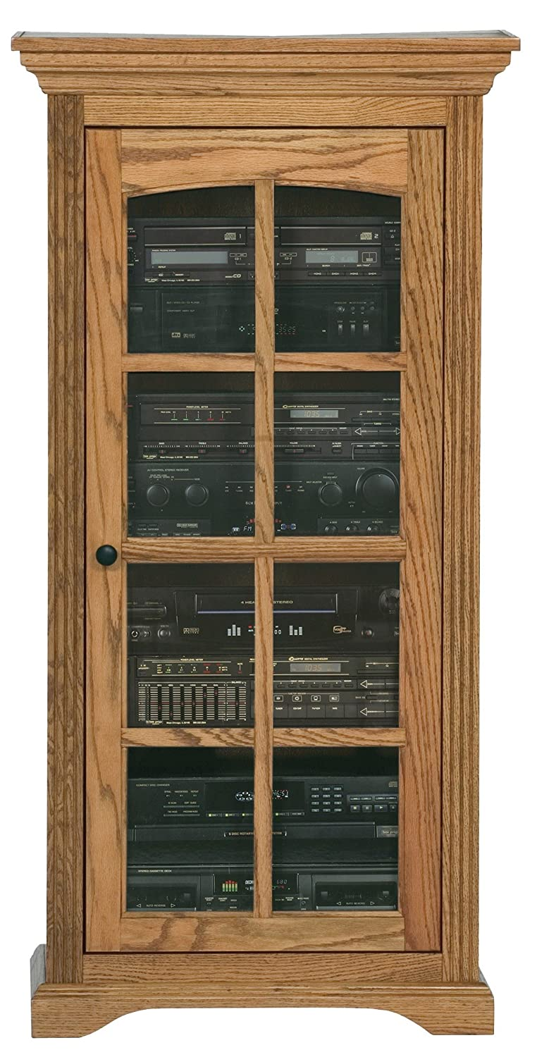 Eagle Oak Ridge Audio Tower, Caribbean Rum Finish 93500PLCR